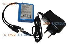 Pacco Batteria a Litio Ricaricabile 12V 3AH Celle AAA + Caricabatterie 12V 0.5AH