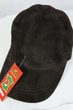 New 100% Lambskin Suede Leather Baseball Cap Hat Biker Trucker Sports Ball Visor