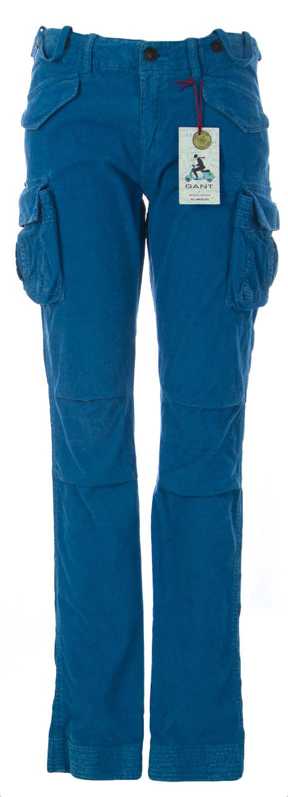 Gant Femme Bleu Océan Pinwale Skinny Pantalon voiturego 414573   240 Neuf