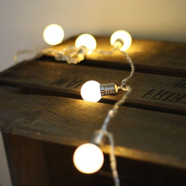 Bulb Shape String Light Festival Party Lamp 10-LED Christmas Deco Warm White
