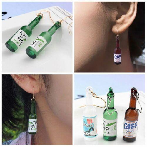 Style coréen Bouteille De Vin Dangle Boucles D/'oreilles Fashion Drop Ear Stud