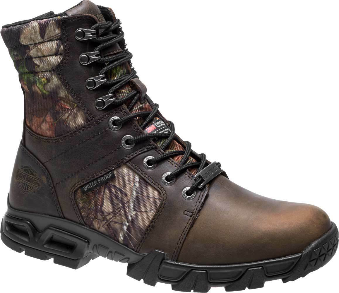 Harley-Davidson Men's Gravier 6.5-Inch WP Camo Leather Leather Leather Motorcycle Boots D93518 128fcb