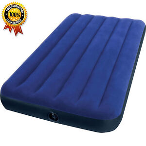 Inflatable Air Mattress Twin Size Intex Classic Downy Airbed Air Bed Sleeper new