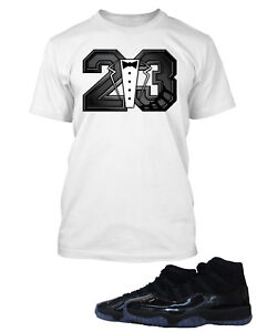 "662de5333eab1a Tee Shirt to Match Air Jordan 11 ""Cap And Gown"" Mens Graphic Big ..."