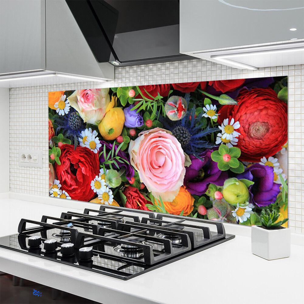 Crédence de de de cuisine en verre Panneau 140x70 Floral Fleurs 1ad1c5