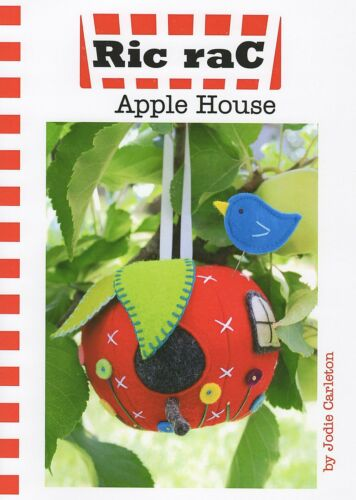 Sewing Craft A5 Creative Card PATTERN APPLE HOUSE Bunting Bird House