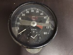 Smiths-Tachometer-Gauge-with-Clock-for-Jaguar-XKE-EType-amp-MKII-RV7413-00-USED