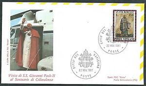 1981 Vaticano Viaggi Del Papa Collevalenza Timbro Arrivo - Rm1
