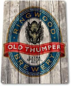 Old-Thumper-Ale-Beer-Brewery-Bar-Pub-Rustic-Sign-Beer-Decor-Sign