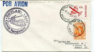 1974 Skylab Usns Vanguard Republica Argentina Por Avion Space Nasa Sat Pure Blancheur