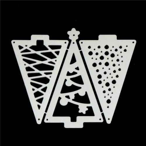 3pcs Christmas Tree Metal Cutting Dies For DIY Scrapbooking Album Paper CarZCH2