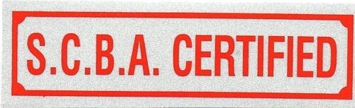 "SCBA CERTIFIED DECAL S.C.B.A CERTIFIED Highly Reflective Decal 1 1//4/"" x 4 1//4/"""
