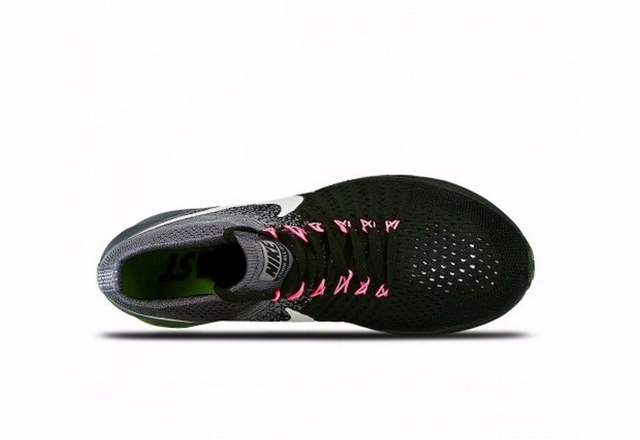 Donna    Nike Zoom All Out Flyknit nero bianca Cool grigio Volt running 845361-002 7757fc