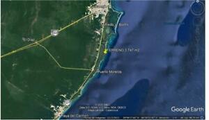 Terreno en Venta de 3,747 m2 en Bahía Petempich, Puerto Morelos, Cancún