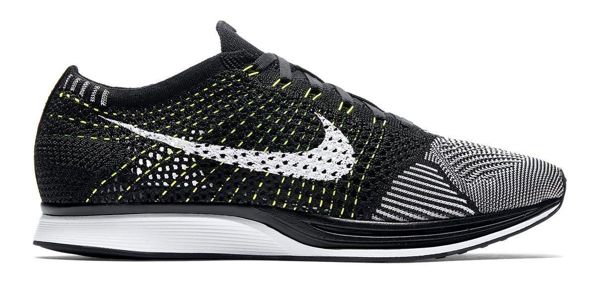 Nike flyknit bianco / nero corridore oreo volt dimensioni 13 nuove di zecca (526628-011)