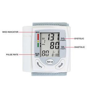 LCD Sfigmomanometro Per Pressione Arteriosa Misuratore Di Impulsi Da Polso Q3R4