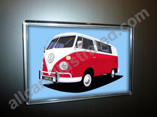 LARGE CHOOSE YOUR COLOUR. VW CAMPER VAN FRIDGE MAGNET