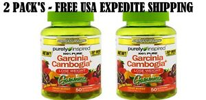 2 Pack S Purely Inspired Garcinia Cambogia Gummies Fruit Burst