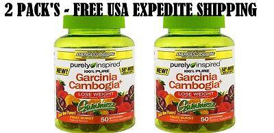 2 Pack S Purely Inspired Garcinia Cambogia Gummies Fruit Burst