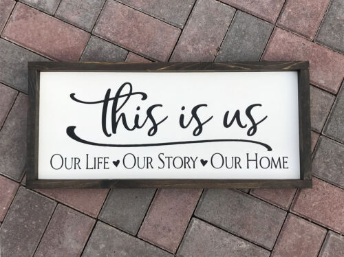 Farmhouse sign This is Us 25 x 11 inches