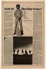 John Fogerty Blue Ridge Rangers Interview/article 1973