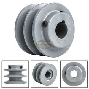 "3.75/"" Cast Iron 3//4/"" Shaft Pulley Sheave Single 1 Groove V Style A Belt 4L New"