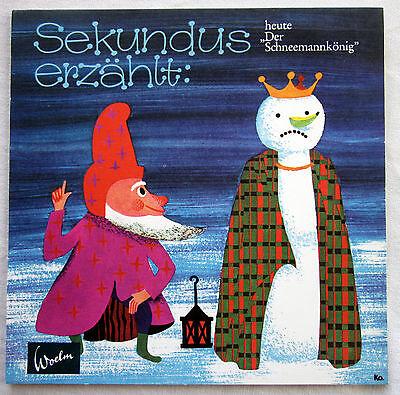 """7"""" Folien-single Sekundus ErzÄhlt: """"der Schneemannkönig"""""""