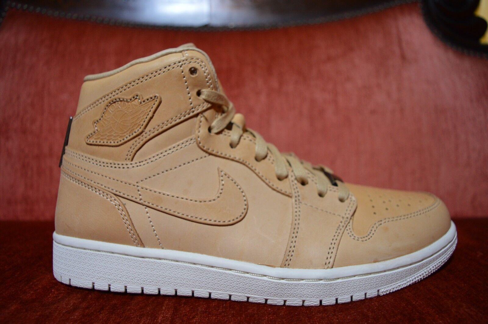 Nike Air Jordan 1 Pinnacle Vachetta Tan Sail 705075 201 Size 9.5 Brown White LUX