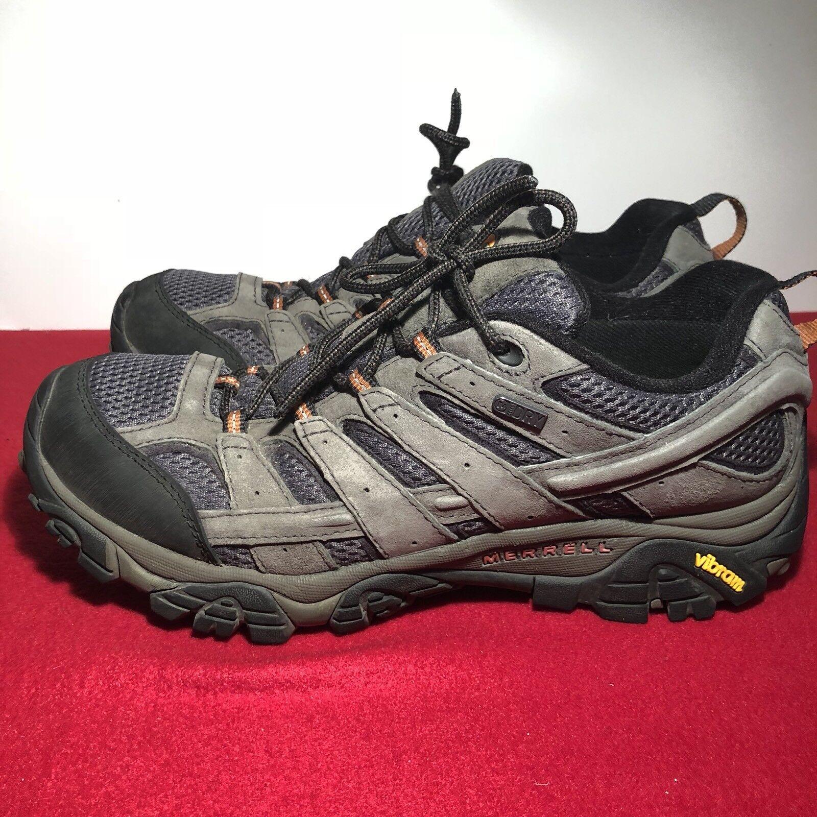 Merrell Moab 2 Mens US Sz 10 Waterproof Trail Hiking shoes J06031 Beluga Suede