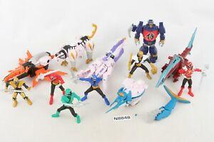 MMPR Power Rangers Samurai Zords Ranger Beetle Swordfish Tiger Octo Shark Light