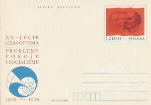 Poland prepaid postcard (Cp 706) press Lenin Marx - Bystra Slaska, Polska - Poland prepaid postcard (Cp 706) press Lenin Marx - Bystra Slaska, Polska
