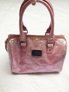 Hello-Kitty-Loungefly-Bag-Purse-Tote-Pearl-Pink-Hard-to-Find