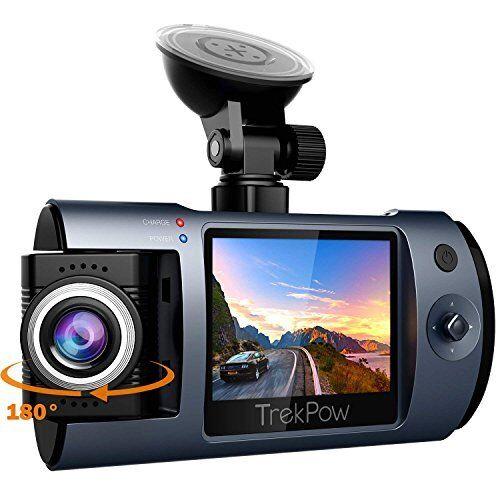 Dash Cam Trekpow by ABOX HD 1080P Car DVR Dashboard Camera 180Rotation for Front