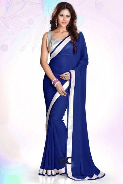 Silver and Royal Blue Chiffon Dresses