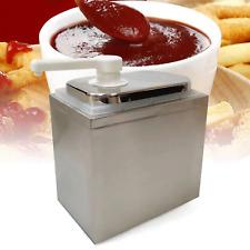 Sauce Dispenser Pump Squeeze Condiment Dispensing Stainless Steel 1 Bucket