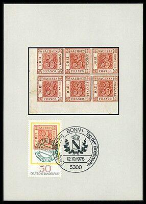 Initiative Brd Mk 1978 Tag Der Marke Sachsen 3er Maximumkarte Maximum Card Mc Cm Bc76 Moderne Techniken Briefmarken