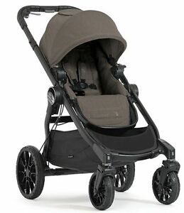 Baby-Jogger-City-Select-Lux-Compact-Fold-All-Terrain-Stroller-Taupe-NEW