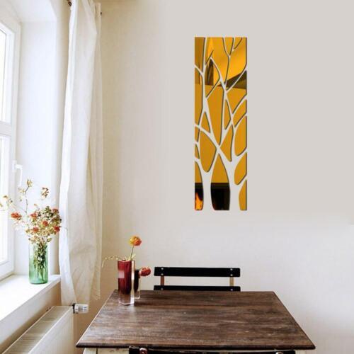 3D Tree Mirror Wandaufkleber Abnehmbare DIY Art Decal Wandbild Home Decor O8Q5