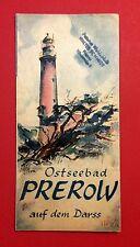 Reise Prospekt um 1935/40 Ostseebad PREROW auf dem Darss    ( F13069