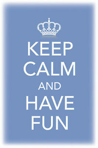 Keep Calm And Have Fun Tin Sign Shield Arched 20 X 30 CM CC0456