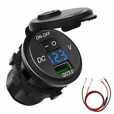 12v 24v Dual Usb Charger Led Digital Display Voltage Amp Gauge Ammeter Voltmeter