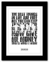 ❤ THE BEATLES - Money ❤ song lyrics typography poster art print A1 A2 A3 A4