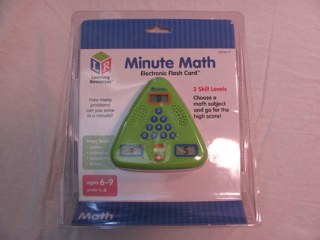 NEW Minute Math Electronic Flash Card System Learning