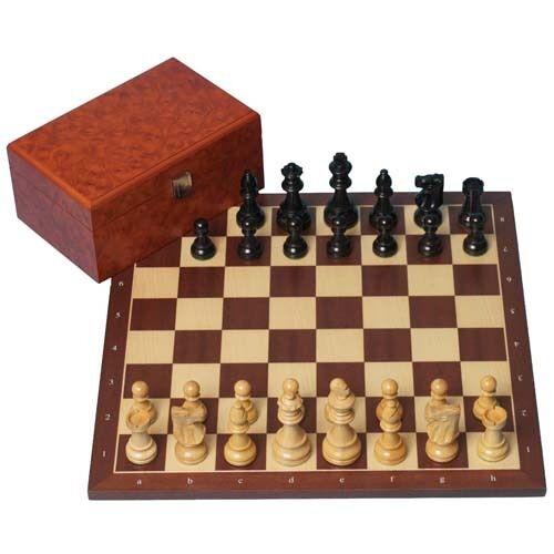 Regular 2 Board /& Box Black Classic Combination Chess Set: Classic Pieces