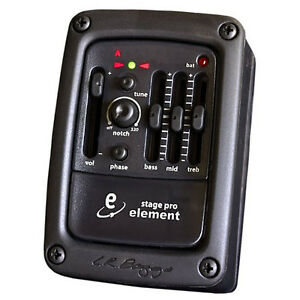 LR-Baggs-Stagepro-Element-Preamp-EQ-Chromatic-Tuner-w-Acoustic-Guitar-Pickup