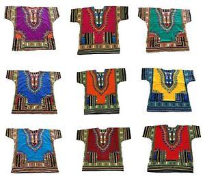 100-Algodon-Hombre-Mujer-Kaftan-Dashiki-Africano-Festival-Hippy-Poncho-Camiseta-Larga