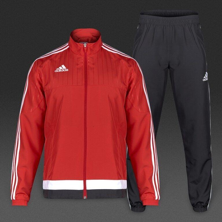 Adidas Para Hombre  Tiro 15 Presentación Suit Potencia rojo blancoo negro negro blancoo Rrp  precios al por mayor