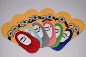 Ladies Women Funny Minion Invisible No Show Socks Gift For Her Silicone Grip Lot