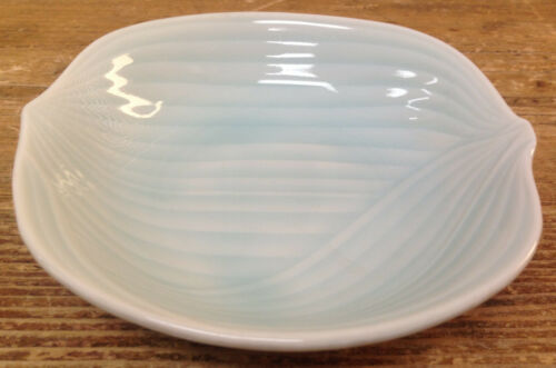 1 Sauce Bowl Light Celadon Green Onion Lines Pottery Asian Lovely No Marks Help?