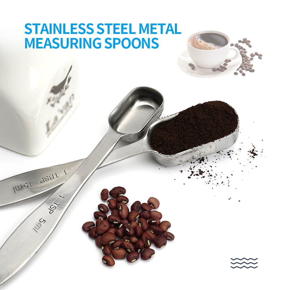 Baking Spoon Set with Loose-Leaf Ring for Easy Removal Assorted Sizes 1//8 Teaspoon to 1 Tablespoon 7 Pack Measuring Spoons Stainless Steel Measuring Spoons